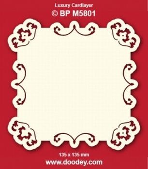Doodey Luxe oplegkaart stans BPM5801 Boogjes