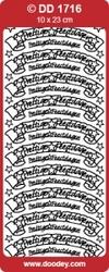 Tekststicker 009 Doodey DD1716 Prettige Feestdagen Banner