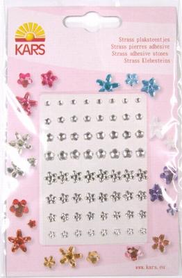 Kars Strass plaksteentjes bloem 0401 zilver
