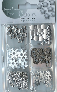 Avec Colours Unlimited Eyelets 4.621.072 wit/zilver
