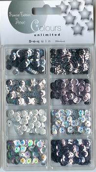 Colours Unlimited Pailletten Mix 4.621.012 wit/zilver