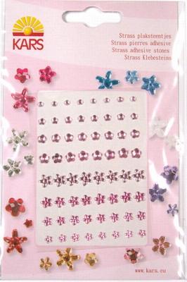 Kars Strass plaksteentjes bloem 0406 licht roze
