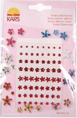 Kars Strass plaksteentjes bloem 0402 rood