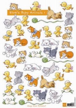 A4 Knipvel MD Eline AK0039 Baby Animals 1 Geboorte