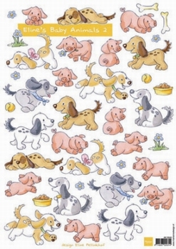 A4 Knipvel MD Eline AK0040 Baby Animals 2 Geboorte