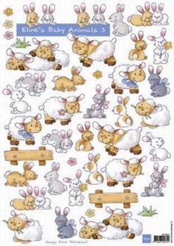 A4 Knipvel MD Eline AK0041 Baby Animals 3 Geboorte