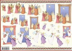 4A Kerstknipvel Mireille X373 Wijze, engelen eren Jezus