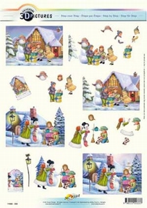 3D Kerstknipvel Universal Pictures 333 Sneeuwman maken