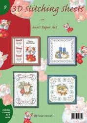 Ann's Paper Art 3D Stitching Sheets  9 Kerst
