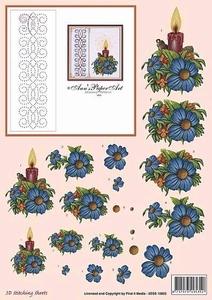 Ann's Paper Art 3D Stitching Sheets 10002 Kerststukje blauw