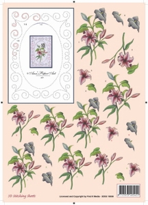 Ann's Paper Art 3D Stitching Sheets 10008 Lelie