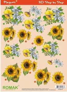 A4 Knipvel Megumi 43 Zonnebloem ea bloemen