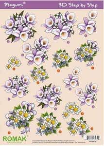 A4 Knipvel Megumi 44 Lila bloemen
