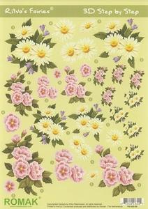 A4 Knipvel Ritva's Fairies 09 Voorjaarsbloemen