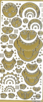 Kars Siersticker Babuschka 2 goud KARS009