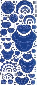 Kars Siersticker Babuschka 2 blauw KARS009