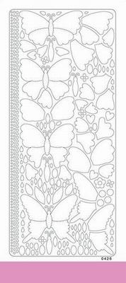 Peel off colour dimension vlinder 0426 licht roze
