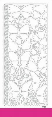 Peel off colour dimension vlinder 0426 donker roze