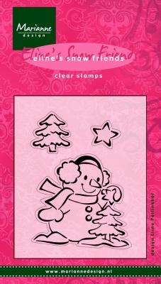 MD clear stamps EC0086 Eline's Snow friends Snowman