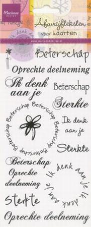Marianne Design Rub-ons beterschap/deelneming/sterkte