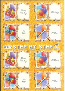 Adios boekjesvel verjaardagvel voor kinderkaartje