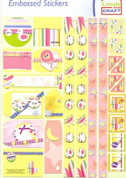 Create and Craft Embossed Sticker 3748