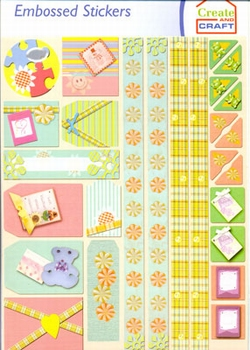 Create and Craft Embossed Sticker 3750