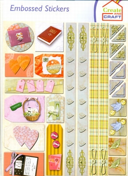 Create and Craft Embossed Sticker 3753
