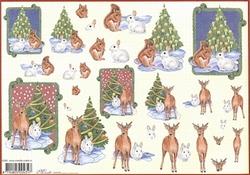 4A Kerstknipvel Mireille X380 Kerst dieren