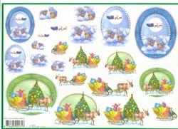 4A Kerstknipvel Mireille X379 Kerst slee