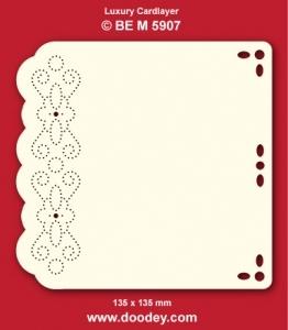 1 Doodey Luxe oplegkaart borduur BEM5907 fantasie