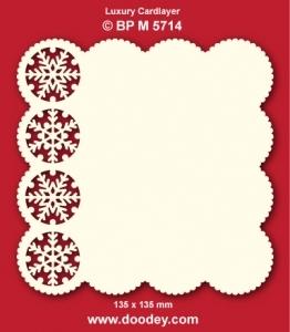 Doodey Luxe oplegkaart stans BPM5714 ijskristallen