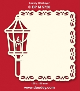 Doodey Luxe oplegkaart stans BPM5720 lantaarn