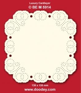 1 Doodey Luxe oplegkaart borduur BEM5914 cirkel/cirkel