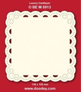 1 Doodey Luxe oplegkaart borduur BEM5913 boog