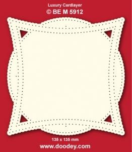 1 Doodey Luxe oplegkaart borduur BEM5912 vierkant / cirkel