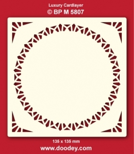 Doodey Luxe oplegkaart stans BPM5807 cirkel in vierkant
