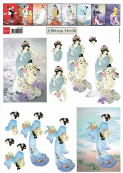 A4 Knipvel Marianne Design MG0833 Geisha 3