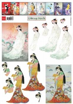 A4 Knipvel Marianne Design MG0832 Geisha 2