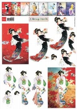 A4 Knipvel Marianne Design MG0831 Geisha 1