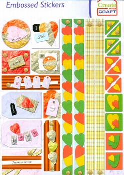 Create and Craft Embossed Sticker 3744