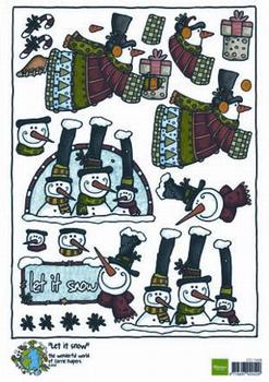 A4 Kerstnipvel Marianne D Co7408 Corrie's let it snow