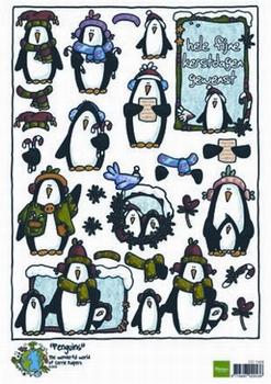 A4 Kerstnipvel Marianne D Co7409 Corrie's penguin