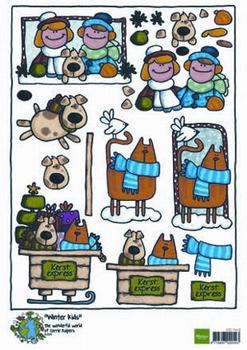 A4 Kerstnipvel Marianne D Co7410 Corrie's winter kids