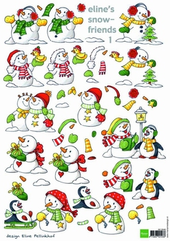 A4 Knipvel MD Eline AK0046 Snowmen snowfriends 1
