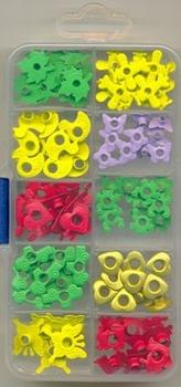 Craft Embellishments 13-90002 bloem/eend/hart/vlinder/blad..
