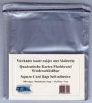 100 Wenskaart Zakjes vierkant met klep & kleefstrip