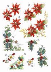 Line Kerststansvel 131 kerstroos hulst