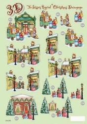 Line Kerststansvel 509 kerst op straat