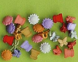 LeCreaDesign Fantasie knoopjes tuin ornamentjes